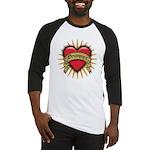 Drummer Tattoo Heart Art Baseball Jersey