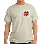 Drummer Tattoo Heart Art Light T-Shirt
