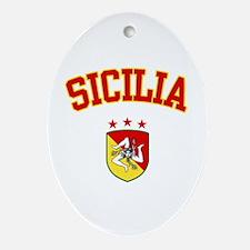 Sicilia Oval Ornament