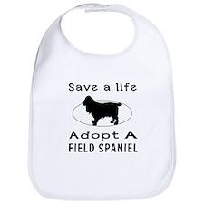 Adopt A Field Spaniel Dog Bib