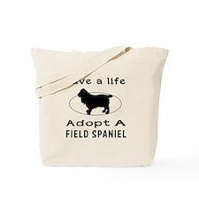 Adopt A Field Spaniel Dog Tote Bag