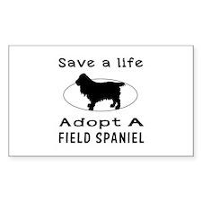 Adopt A Field Spaniel Dog Decal