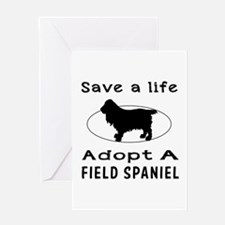 Adopt A Field Spaniel Dog Greeting Card