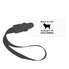 Adopt A Field Spaniel Dog Luggage Tag