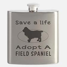 Adopt A Field Spaniel Dog Flask