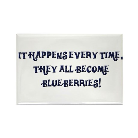 Blueberries Rectangle Magnet