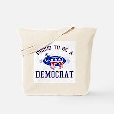 Collegiate Proud Democrat Tote Bag