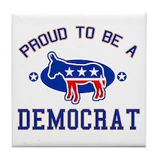 Collegiate Proud Democrat Tile Coaster