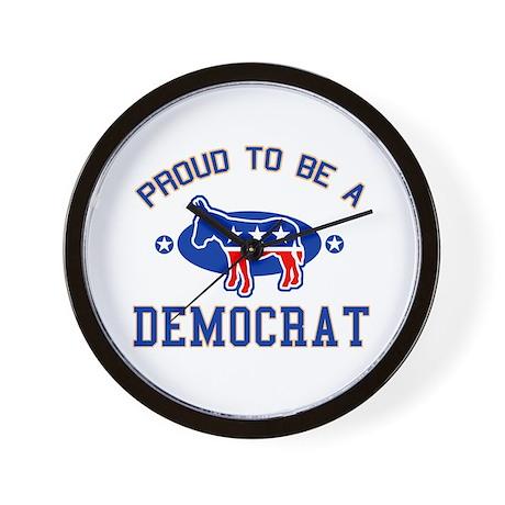 Collegiate Proud Democrat Wall Clock