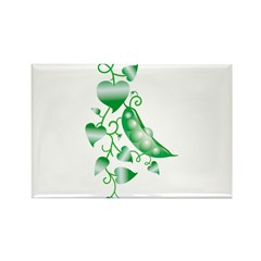 Peas in a pod Rectangle Magnet