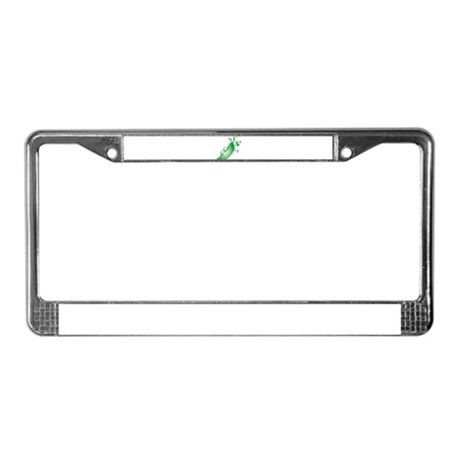 Twin peas License Plate Frame