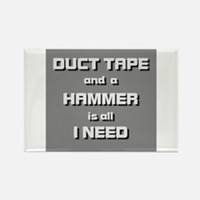 Duct Tape and a Hammer Rectangle Magnet