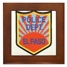 El Paso Police Framed Tile