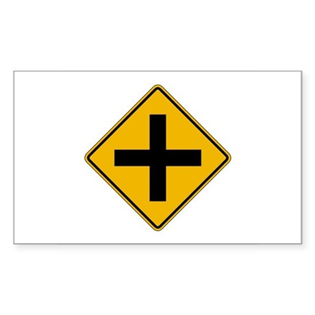 Cross Road - USA Rectangle Sticker