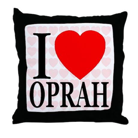 I Love Oprah Throw Pillow