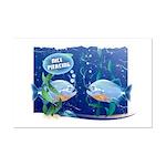 Nice Piercing / Hooked Fish Mini Poster Print