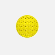 Super cute Kawaii face on yellow Mini Button