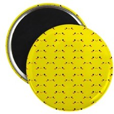 Super cute Kawaii face on yellow Magnets