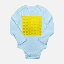 Super cute Kawaii face on yellow Body Suit