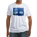 Nice Piercing / Hooked Fish Fitted T-Shirt