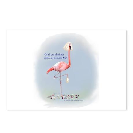 Bride Flamingo Postcards (Package of 8)