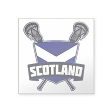 Scottish Flag Lacrosse Logo Sticker
