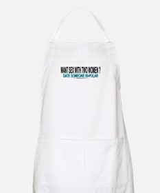 Sex With Two Women BBQ Apron