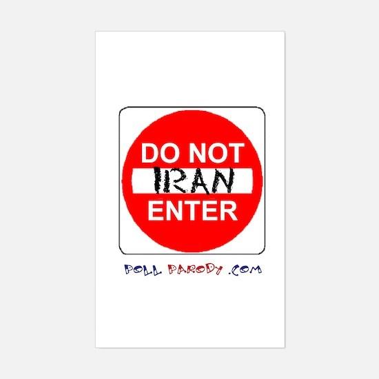 Do Not Enter Iran Rectangle Decal