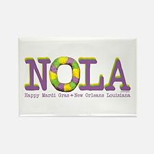 NOLA Mardi Gras King Cake Rectangle Magnet (10 pac