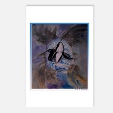 Whale, Killer Whale, art Postcards (Package of 8)