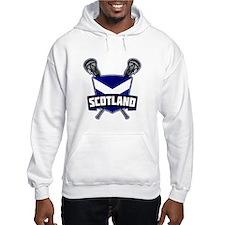 Scottish Flag Lacrosse Logo Hoodie