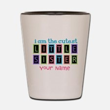 Cutest Little Sister Personalized Shot Glass