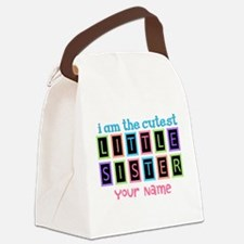 Cutest Little Sister Personalized Canvas Lunch Bag