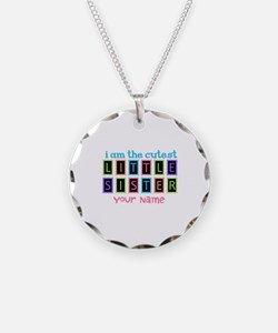 Cutest Little Sister Personalized Necklace