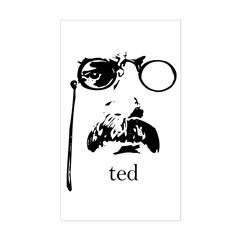 Teddy Roosevelt Rectangle Decal