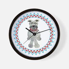 Bulldog Zig Zag Wall Clock