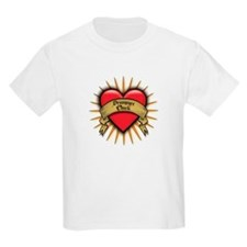 Drummer Chick Tattoo Heart Art T-Shirt