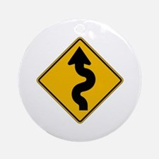Winding Road - USA Ornament (Round)
