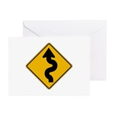 Winding Road - USA Greeting Cards (Pk of 10)