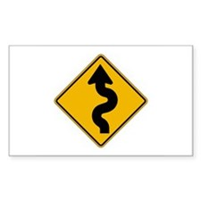 Winding Road - USA Rectangle Decal