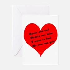 ROSES ARE RED Greeting Cards (Pk of 10)