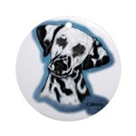 Dalmatian Head Study Ornament (Round)