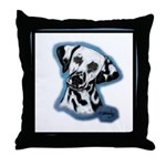 Dalmatian Head Study Throw Pillow
