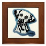 Dalmatian Head Study Framed Tile
