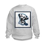 Dalmatian Head Study Kids Sweatshirt