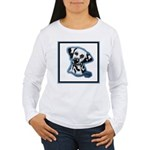 Dalmatian Head Study Women's Long Sleeve T-Shirt