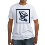 Dalmatian Head Study Fitted T-Shirt