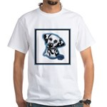 Dalmatian Head Study White T-Shirt