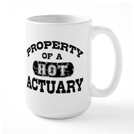 Property of a Hot Actuary Large Mug
