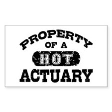 Property of a Hot Actuary Decal